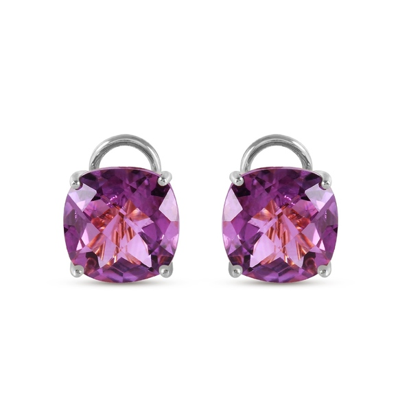 Galaxy Gold Products Jewelry - FRENCH CLIPS EARRING WITH NATURAL AMETHYSTS